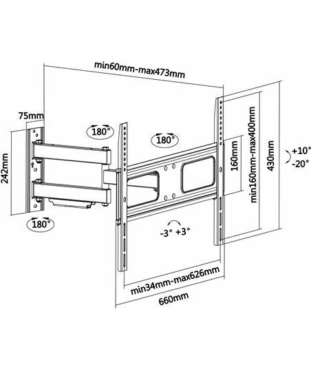 Nuevoelectro.com soporte de pared aisens wt70tsle-025 para pantallas 37-70''/94-177cm - hasta - 70329716_9191665746