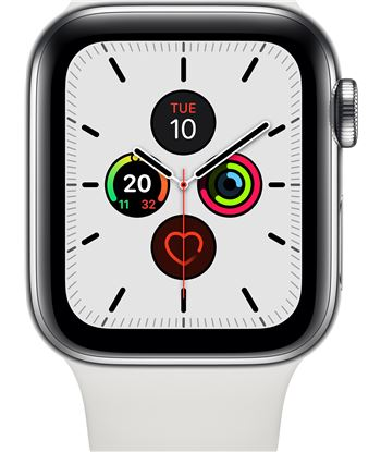 Apple watch series 5 gps cell 40mm caja acero con correa blanca deportiva MWX42TY/A