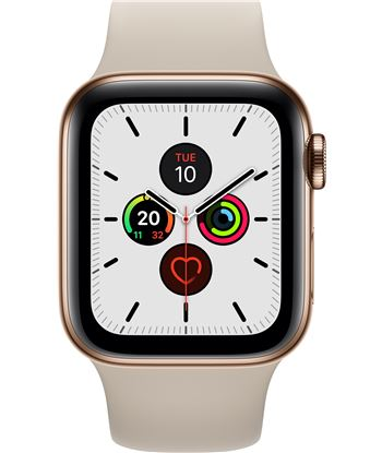 Apple watch series 5 gps cell 40mm caja acero oro con correa piedra deport MWX62TY/A