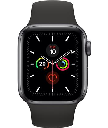 Apple watch series 5 gps 40mm caja aluminio gris espacial con correa negra MWV82TY/A