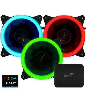 Nuevoelectro.com ventilador aerocool rev rgb pro - 12cm - 1200rpm - 15.1dba - iluminación an revrgbpro