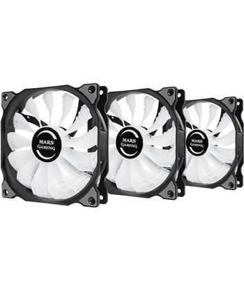 Nuevoelectro.com kit 3 ventiladores mars gaming mfrgbkit - 12cm - 13 paletas - 18db - 3w - r
