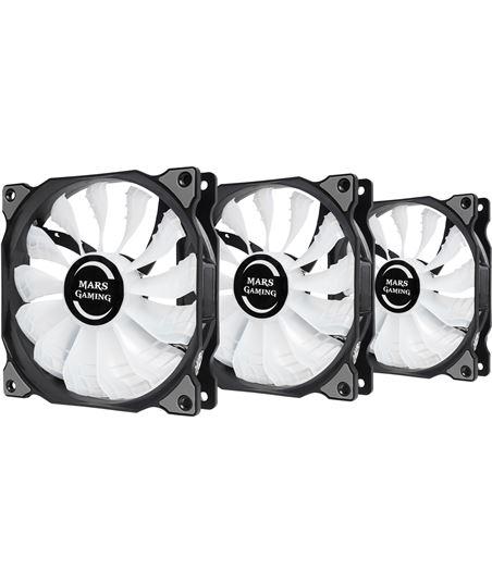 Nuevoelectro.com kit 3 ventiladores mars gaming mfrgbkit - 12cm - 13 paletas - 18db - 3w - r - TAC-VEN MFRGBKIT