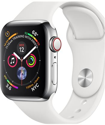 Apple watch series 4 gps cellular 40mm caja acero inoxidable plata con corr MTVJ2TY/A