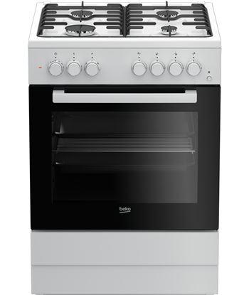 Beko FSE62110DW cocina gas 4f 60cm blanca natural horno electrico - FSE62110DW