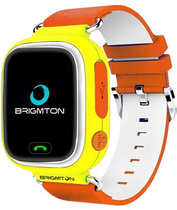 Smartwatch Brigmton bwatch kids localizador gps sim amarillo BWATCHKIDSY
