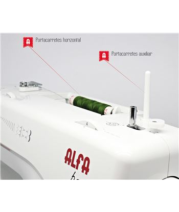 Maquina coser Alfa BASIC720 . - 63146399_8532484280