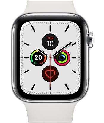 Apple watch series 5 gps cell 44mm caja acero con correa blanca deportiva MWWF2TY/A