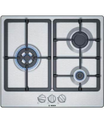 Bosch, pgc6b5b90, encimera, gas, encastrable, 60 cm, 3 quemadores, acero in