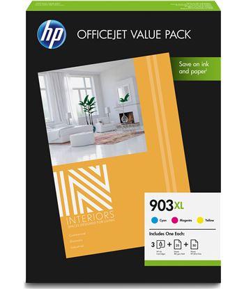 Pack officejet value Hp - 3 cartuchos 903xl cian/magentaire acondicionado marillo + 50 hoja 1CC20AE - 1CC20AE
