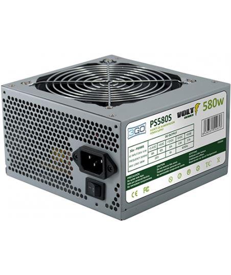 Fuente alimentación 3go PS580S - 580w - 20+4pin - 2*sata - ventilador 12cm - 3GO-FUENTE PS580S