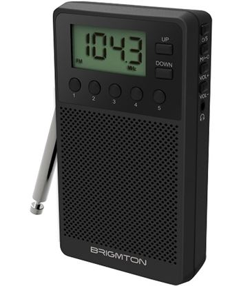 Radio digital Brigmton bt 140 am/fm altavoz negro BT140N