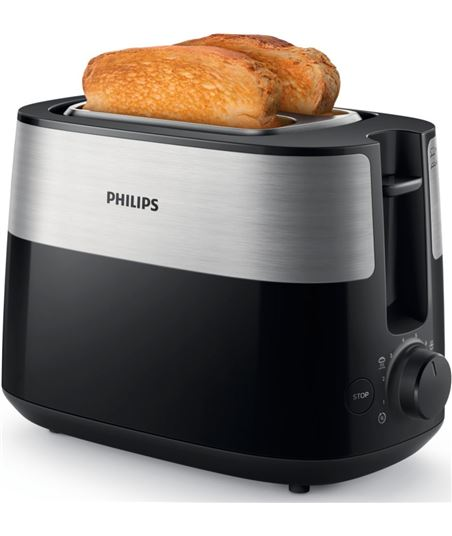 Tostador Philips daily collection hd2516 negro - 830w - 8 modos tostado - 2 HD2516/90 - HD251690