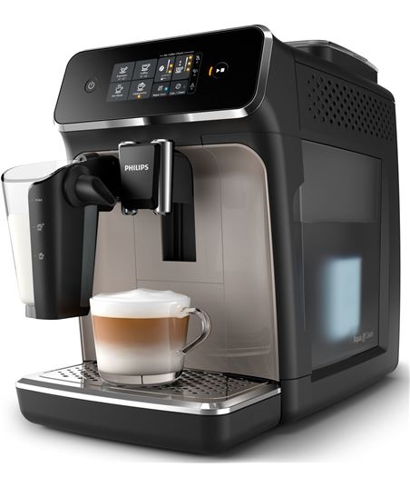 Cafetera Philips 2200 series - 1500w - 12 ajustes molinillo - 3 ajustes int EP2235/40 - EP223540