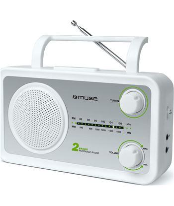 Muse m-06sw blanco plata radio analógica fm/am con altavoz integrado M06SW