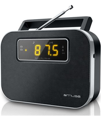 Muse M-081 R negro radio analógica fm/am portátil con altavoz integrado pan