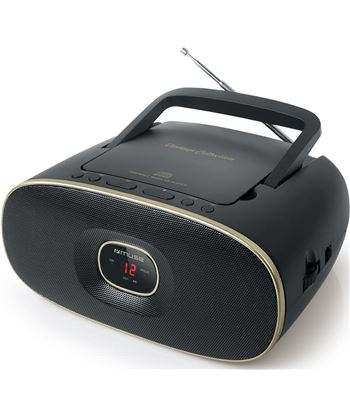 Muse md-202 vt negro radio cd portátil cd-rw fm/am con altavoz integrado MD202VT