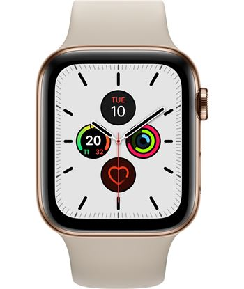 Apple watch series 5 gps cell 44mm caja acero oro con correa piedra deport MWWH2TY/A