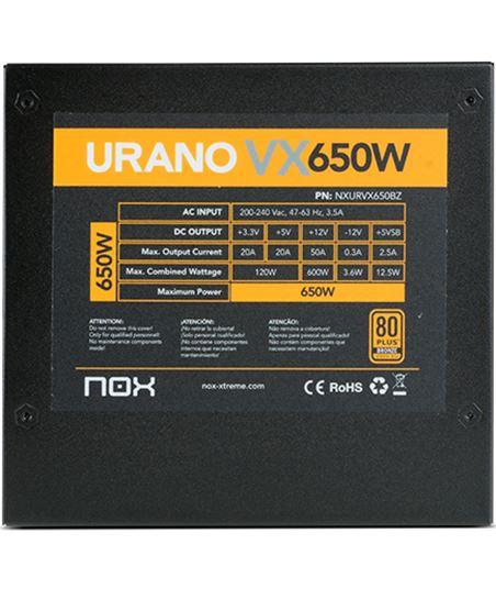 Nuevoelectro.com fuente alimentacion nox urano vx 650w bronze - ventilador 12cm - pfc activo nxurvx650bz - 38276314_1580818598