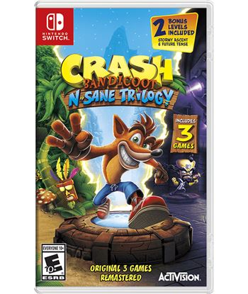 Juego para consola Nintendo switch crash bandicoot n. sane trilogy CBNST