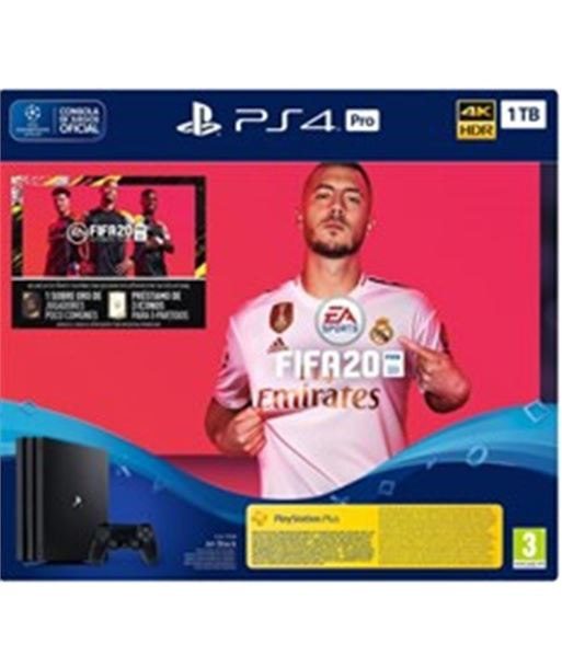 Play consola sony ps4 pro 1tb + fifa20 + cupo futvch + 14 days ps 9979104 - 711719979104