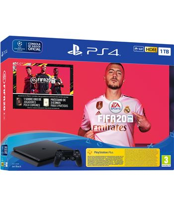 Play consola sony ps4 1tb + fifa20 + cupon futvch + 14 days ps 9974703