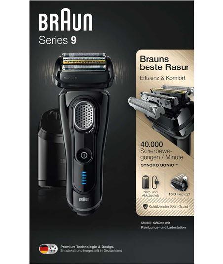 Afeitadora Braun serie 9 9250cc negra - 5 elementos de afeitado - cabezal f 217244 - 59141240_0186174247