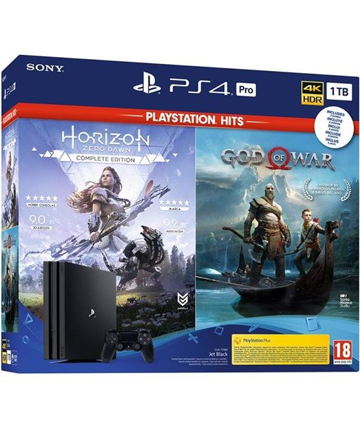Sony consola ps4 pro 1 tb + god of war + horizon zero dawn 9325208 - 711719325208