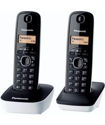 Siemens panasonic teléfono inalámbrico dect kx tg1612jtw negro/blanco - pack dúo -