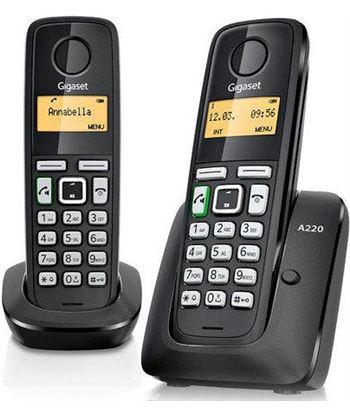 Siemens teléfono dect gigaset a220 pack trío (base+2 supletorios) - manos libres - a220 trio