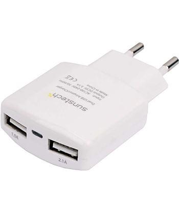 Sunstech cargador usb dual ACU30WT, blanco Accesorios telefonia