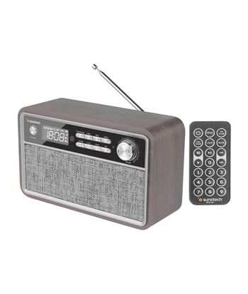 Radio retro Sunstech RPBT500WD madera - 2*3w rms - fm - bt 4.2 - reloj y al