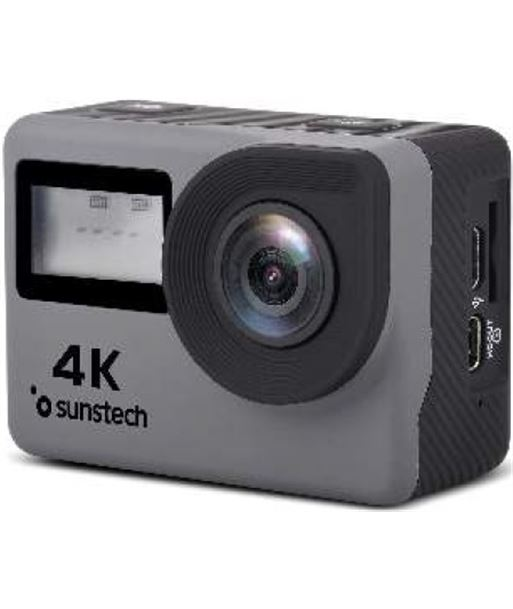 Sunstech cámara deportiva adrenaline4k - full hd-4k/30fps - lente gran angu ADRENALINE4KGY - SUN-CAM ADRENALINE4K