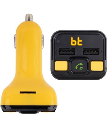 Transmisor fm bluetooth para coche Ngs spark curry bt - 206 canales - 2*usb SPARKBTCURRY