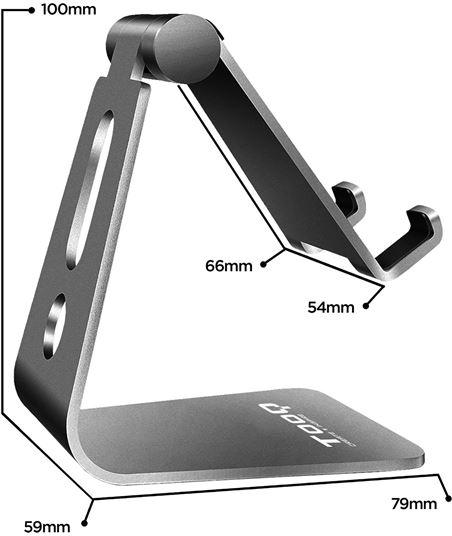 Nuevoelectro.com soporte para smartphone móvil / tablet tooq ph0001-g gris - almohadillas d - 62515105_4330691848