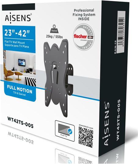 Nuevoelectro.com soporte de pared aisens wt42t005 para pantallas 23-42''/58-106cm - hasta 2 wt42ts-005 - 70342067_1339306953