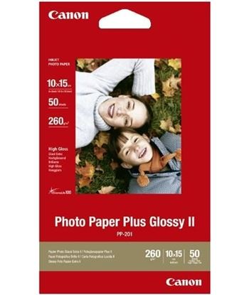 Papel fotográfico Canon pp-201 - 50 hojas - 10*15cm - 265gr/m2 - brillo ii 2311B003