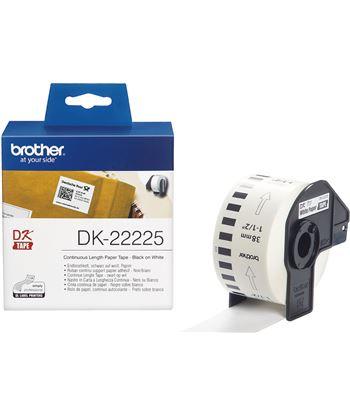 Cinta continua de papel térmico Brother DK22225 - anchura 38mm - bobina 30. - DK22225