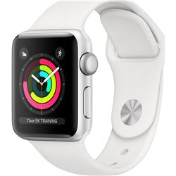 Apple watch 3 MTEY2QL/A gps 38mm aluminio correa blanca