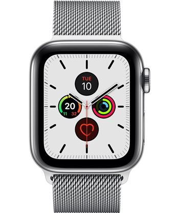 Apple watch series 5 gps cell 40mm caja acero con correa acero milanese lo MWX52TY/A