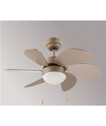 F.m. ventilador de techo con luz fm vt-90 - 6 aspas ø 80cm - palas reversibles