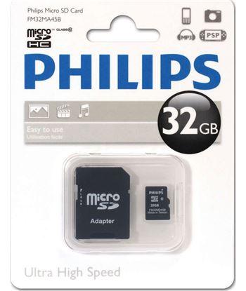 Memoria micro sdhc Philips 32gb clase 10 más adaptador FM32MP45B
