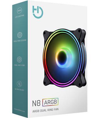 Ventilador Hiditec n8-argb - 1200rpm - 120mm - iluminación argb rainbow - 2 VGCH10003 - 80120501_8592833101