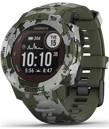 Reloj deportivo con gps Garmin instinct solar camo militar - pantalla 23*23 010-02293-06