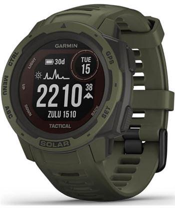 Reloj deportivo con gps Garmin instinct solar tactical verde militar - pant 010-02293-04