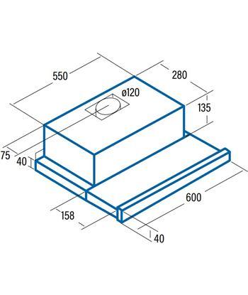 Cata 02034310 campana tf5260x extraible 60cm inox Campanas convencionales - 70356546_0172562706
