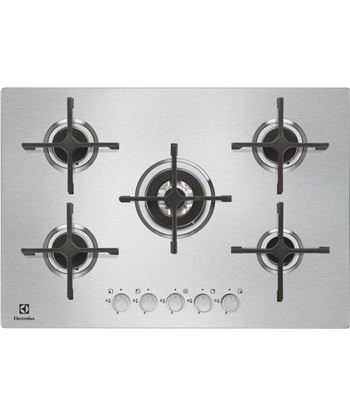 Placa gas Electrolux EGU7658NOX, 5fuegos,75 cm Encimeras