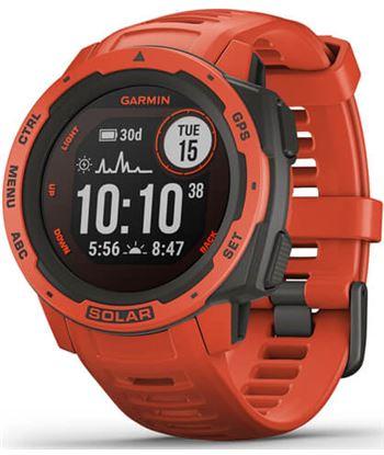 Reloj deportivo Garmin instinct solar rojo - pantalla 23*23mm - carga solar 010-02293-20