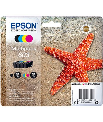 Epson C13T03U64010 multipack tinta 603 4 tintas cyan magenta amarillo negro - EPSC13T03U64010