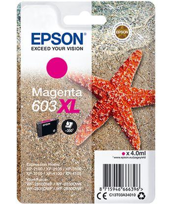 Cartucho tinta magenta Epson 603xl - 4ml - estrella mar - compatible según C13T03A34010 - C13T03A34010